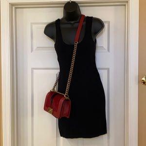 Bebe Black Dress w/side cutouts